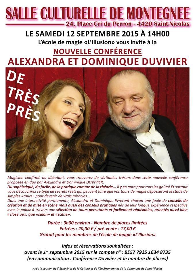 Conférence de Magie de Alexandra et Dominique Duvivier en Belgique Saint-Nicolas