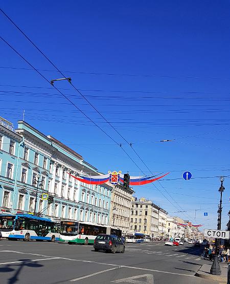 Der weltberühmte Newski-Prospekt in St. Petersburg