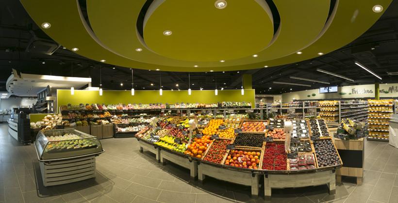 Obst- und Gemüseabteilung