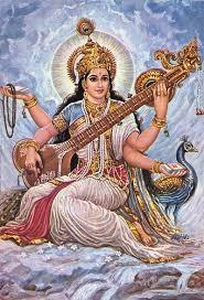 Saraswati Göttin der Künste, des Wissens und der Uebersetzungen