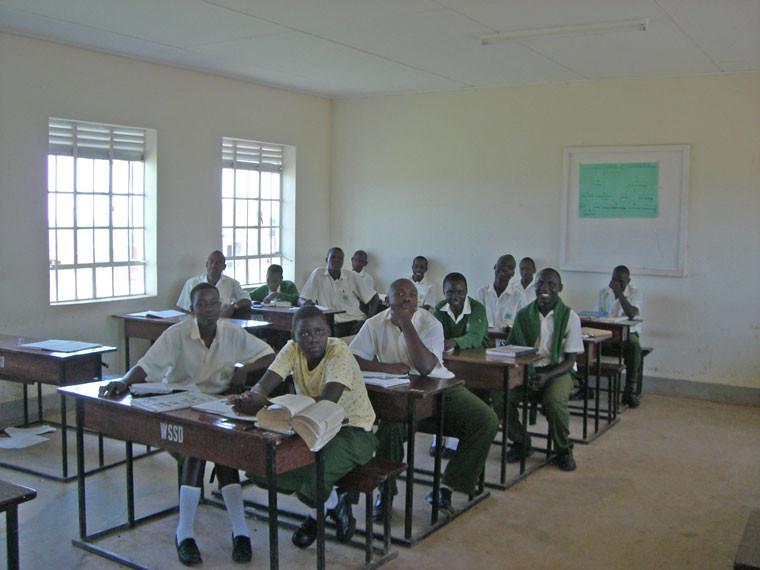 Die Schüler im Unterricht...