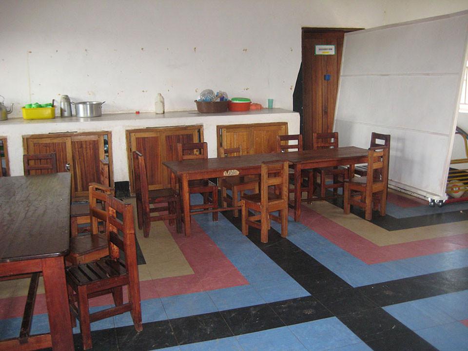 Das Klassenzimmer für die Taubblinden.