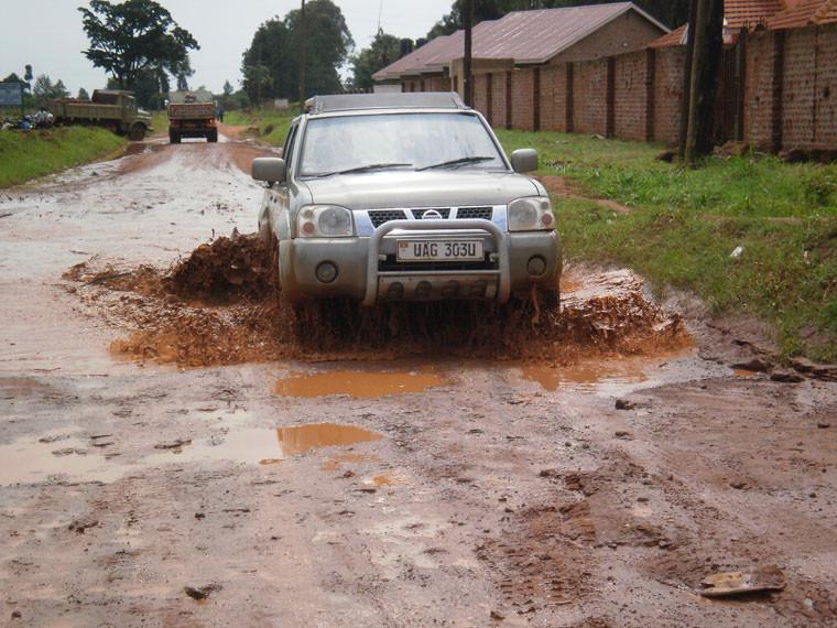 Über Masaka ging es wieder in die Hauptstadt Kampala, ...