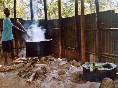 Die Küche vorher