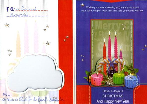 Unterschriebene Weihnachtskarte