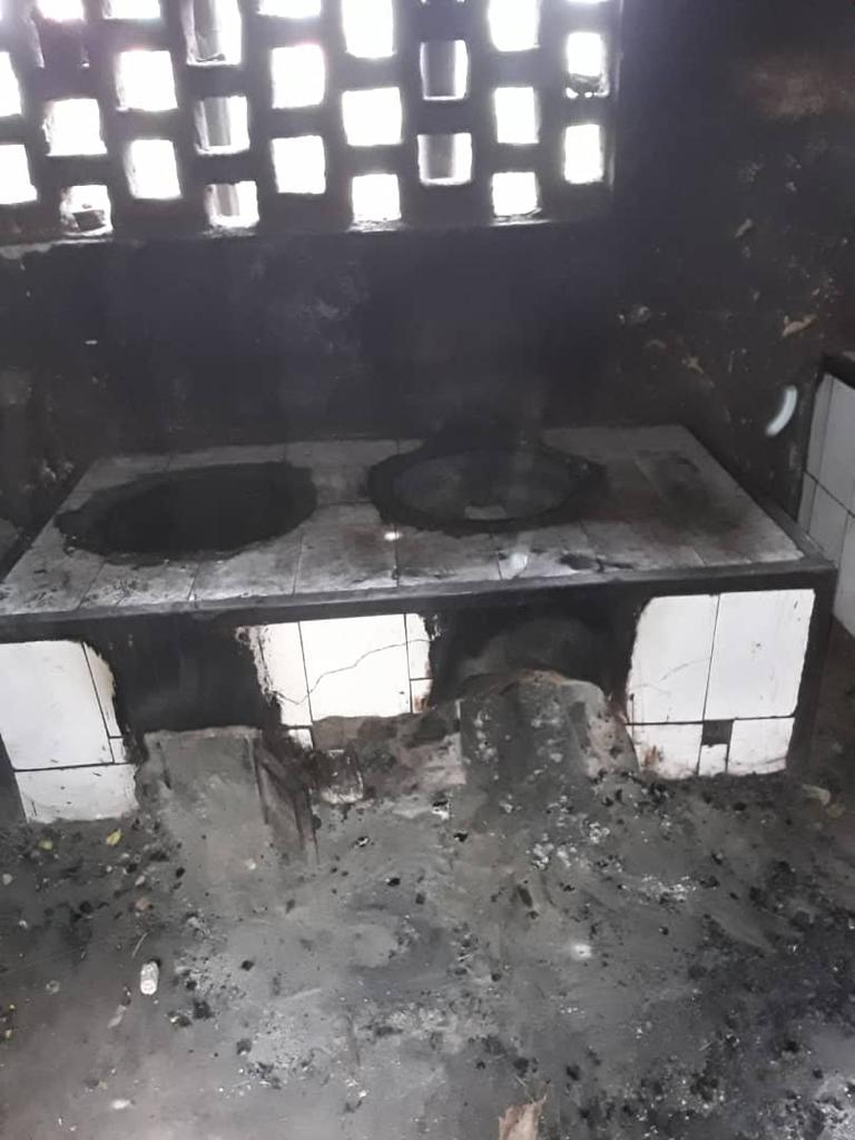 Spendenaktion für den Wiederaufbau des Ofens in der Küche