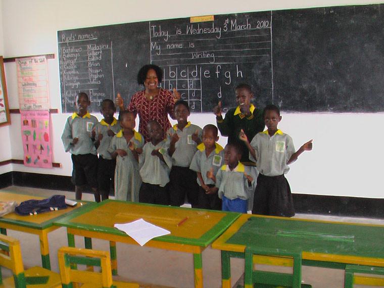 ...für die Vorschulkinder, die provisorisch einen Klassenraum belegen.