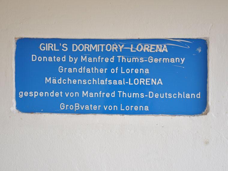 """...wird das nach Herrn Thums gehörlose Enkelin """"Lorena"""" getaufte Gebäude..."""