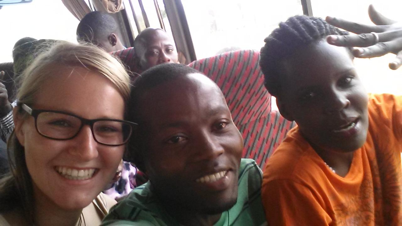mit Sarah, Brian und den anderen Lehrer auf dem Weg zum Lake Nabugabu - Lehrerausflug