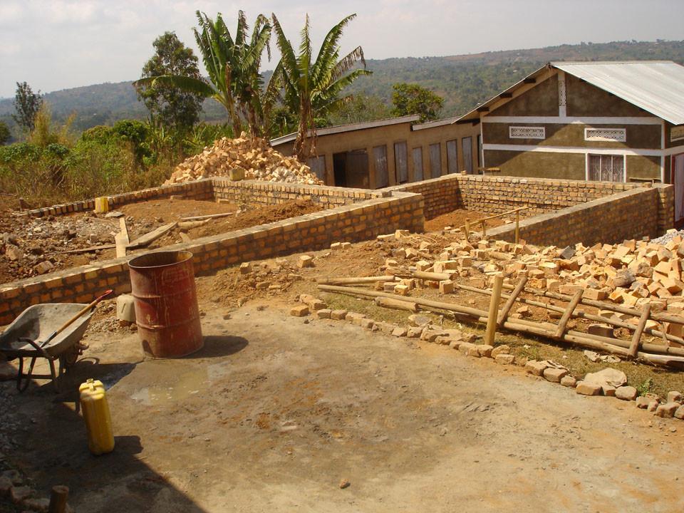 Im August 2009 wurde dann das Fundament...