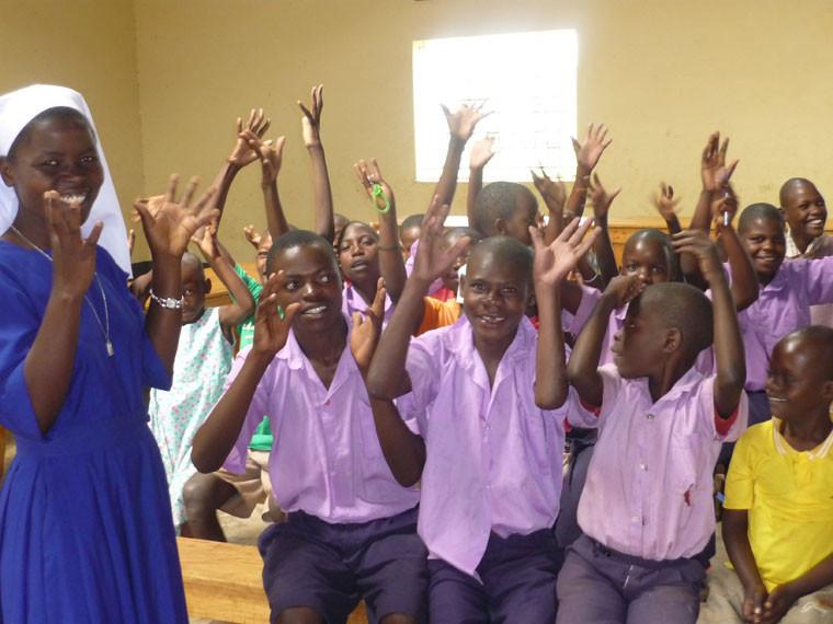 ...wofür wir auch einen herzlichen Dank der Kinder ernteten.