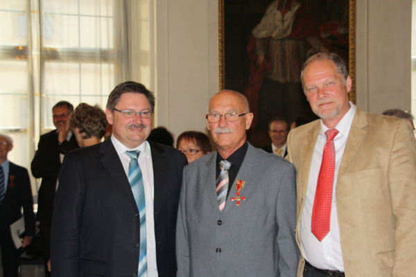 Staatssekretär Eck, Afrikaprojekt-Leiter Ehrenreich, Afrikaprojekt-Mitarbeiter Manfred Becker