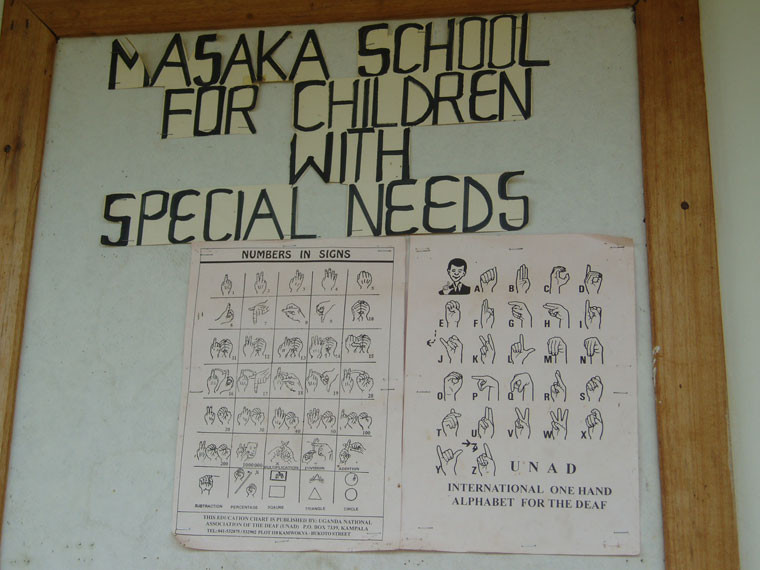 "zur ""Masaka school for children with special needs"", ..."