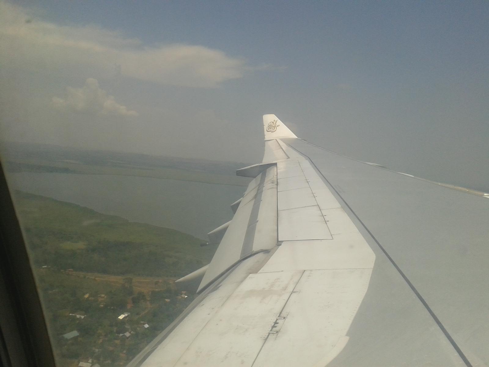 Wir können den Viktoriasee schon sehen =)