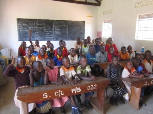 Klassenübergreifende Gruppe der gehörlosen SchülerInnen