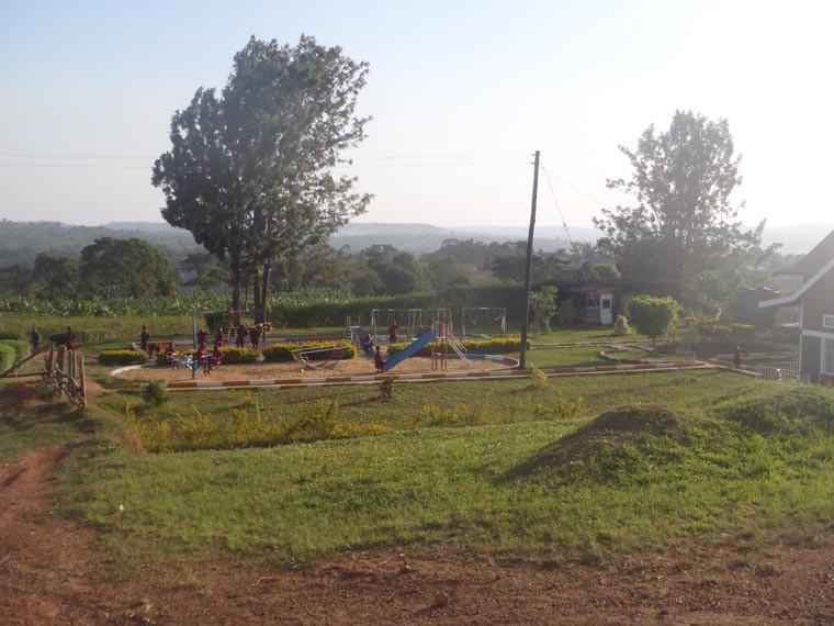 Der Spielplatz neben der Taubblindenschule.