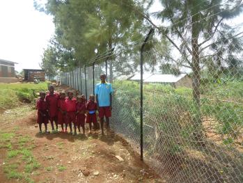 Zaun in Bwanda