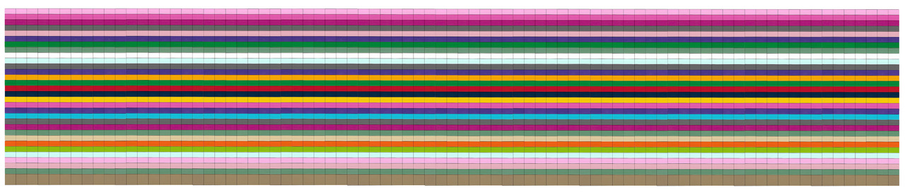 EL EGO 2020 Hommage an Richter (Streifenbild) | Lego | 25,5x128x0,5cm | Edition: 10+1 | € 2.200,- each