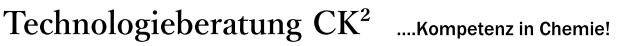 Technologieberatung Dr. rer. nat. Christian Klinger, CK², Kompetenz in Chemie