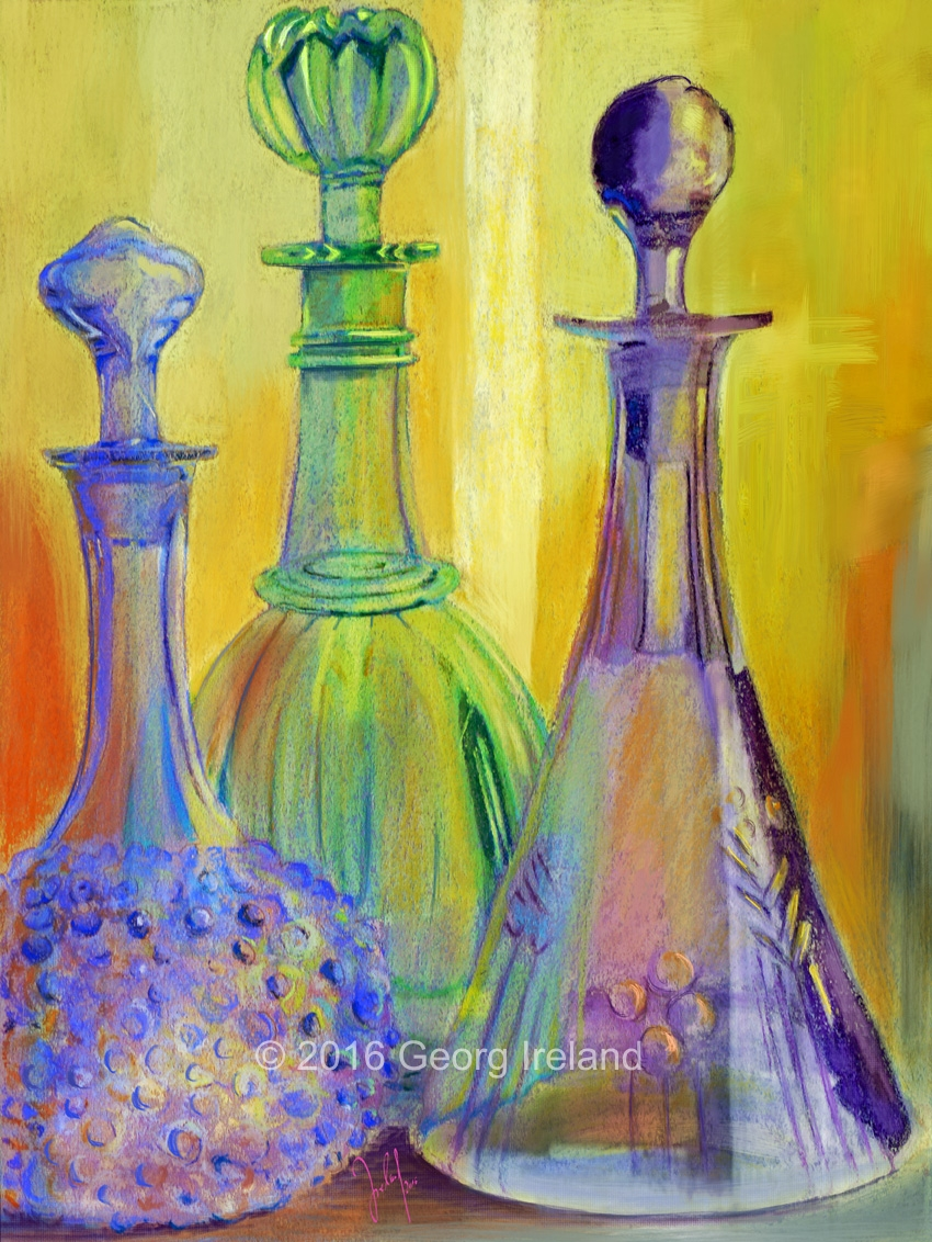 colour composition with glass