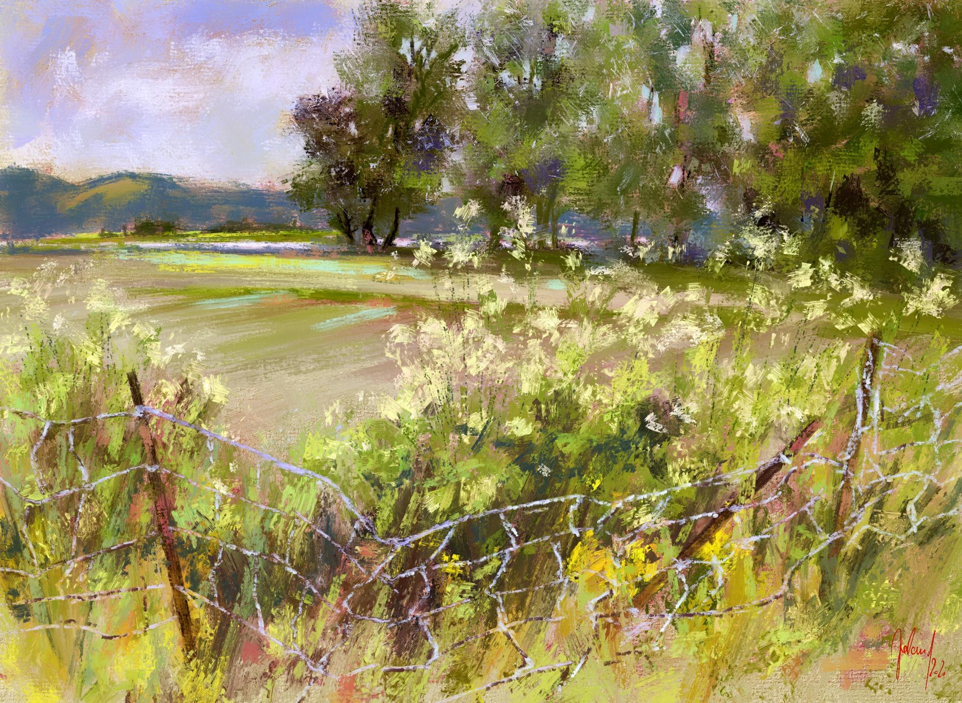 Das Making of einer Landschaftsstudie - Making of a landscape study