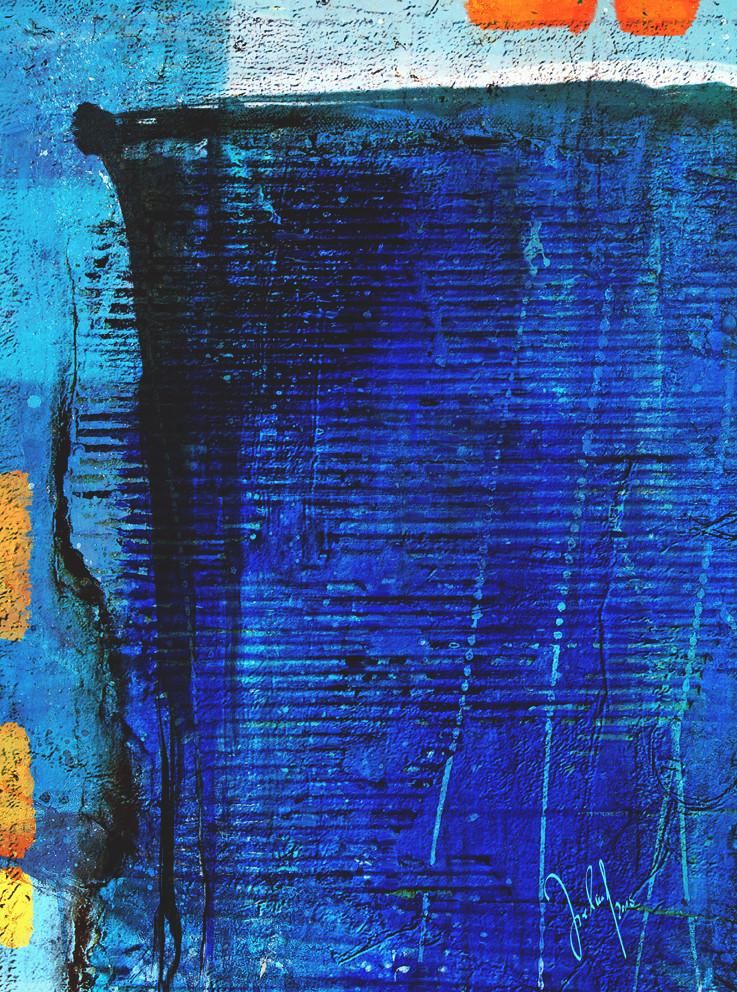 urban landmarks deep blue and orange