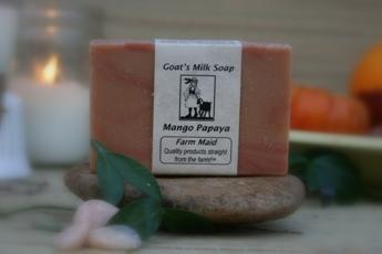 Goat milk soap ~ mango papaya