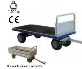 Remolque de 4 ruedas con plataforma