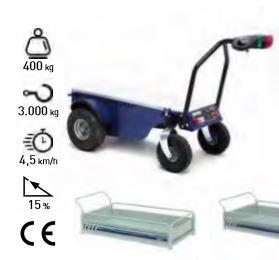 Remolque eléctrico con opción de carga