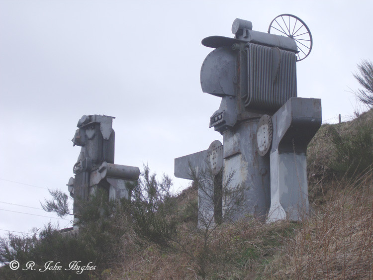 The Transformers, C2C Sustrans Route. near Maiden Law.
