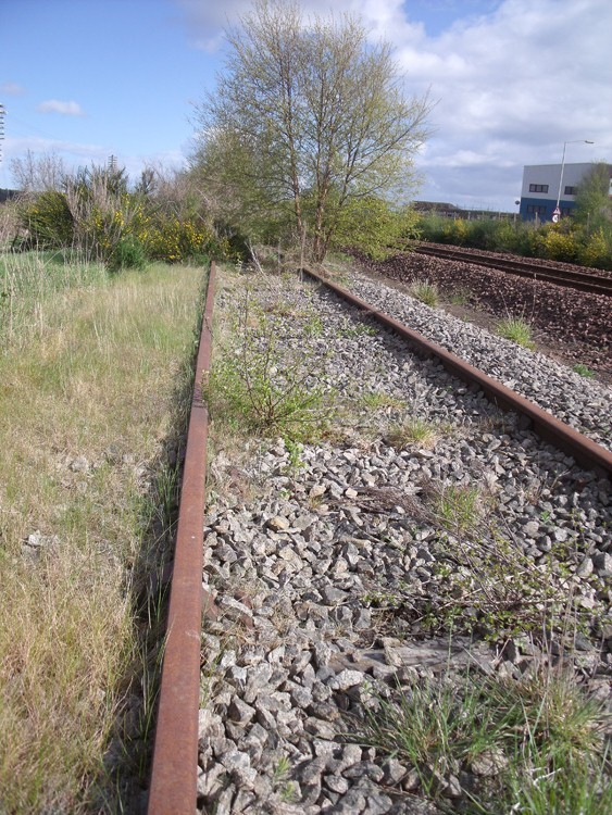 The old tracks used by Meldrum Meg still in situ.