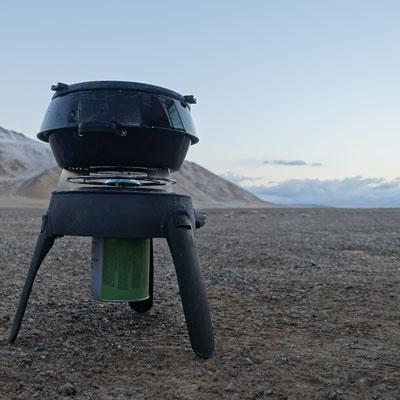 Teewasser im Morgengrauen auf über 4.000 Metern