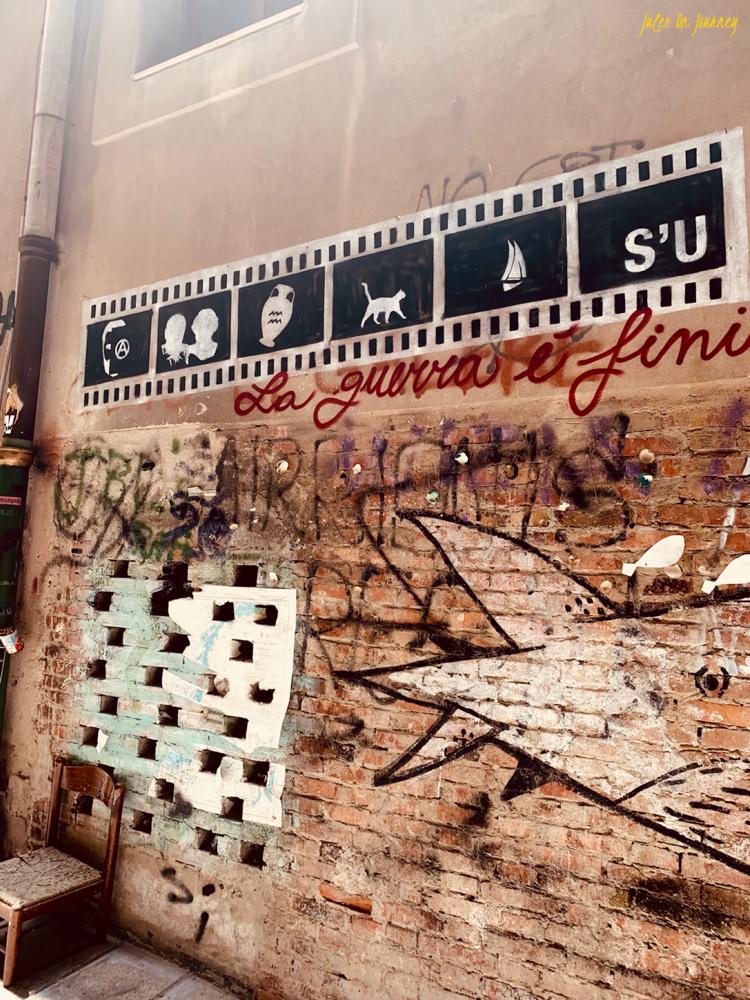 Street Art in den Gassen der Stadt.