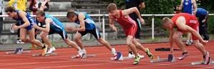 Startphase 100m-Lauf