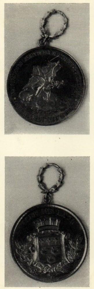 médaille commémorative de l'inauguration du 9 juillet 1899 (coll. P.Bocquet)