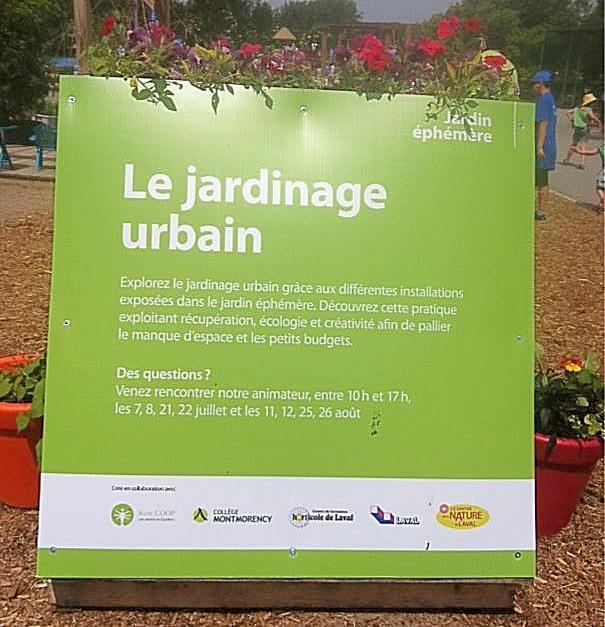 Jardin éphémère au Centre de la Nature de Laval
