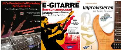 E-Gitarren Lehrbücher von Tunesday Records Musikverlag