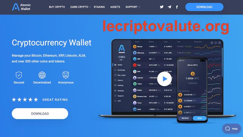 atomic wallet versione mobile ios android