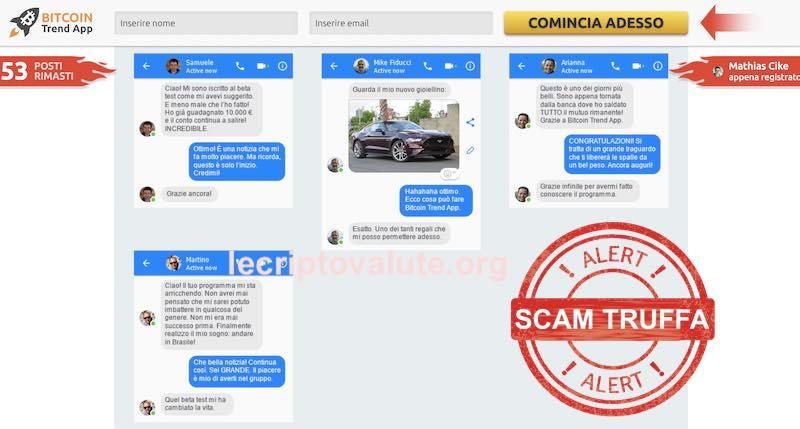 bitcoin trend app recensioni false facebook truffa