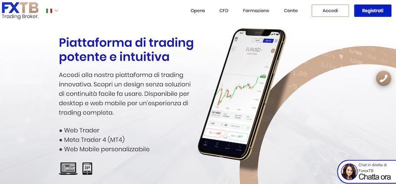 forextb app come funziona web trader