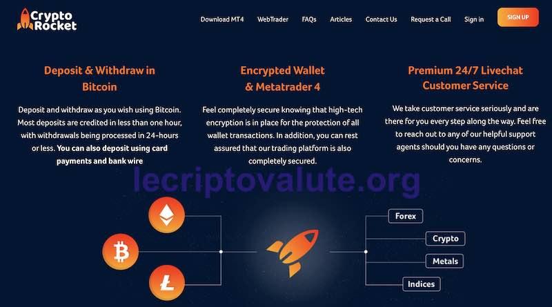 crypto rocket asset disponibili bitcoin trading