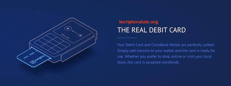 coinsbank carta di credito di debito italiano come funziona