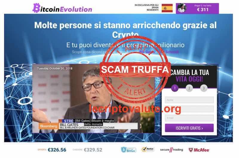 bitcoin evolution opinioni recensioni truffa scam