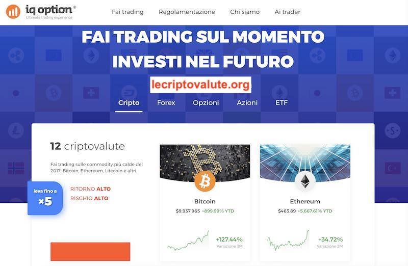 iq option broker criptovalute