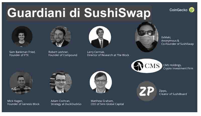 sushiswap squadra di sviluppo