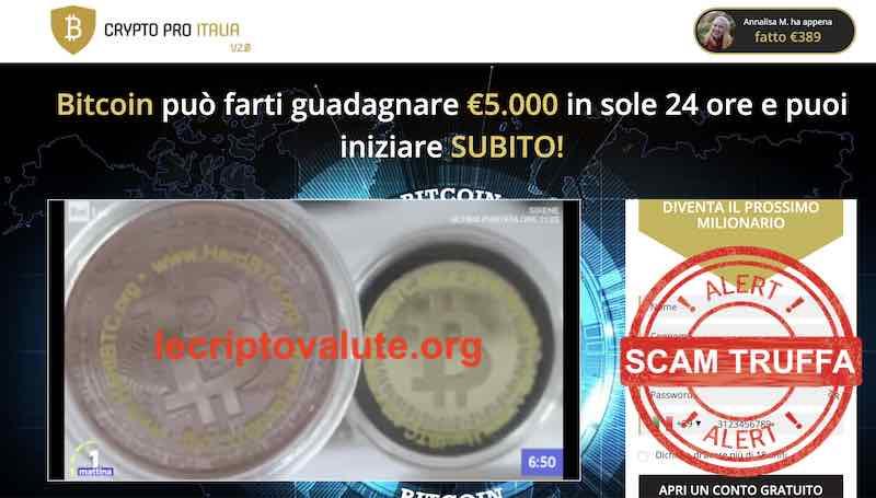 cryptopro italia truffa