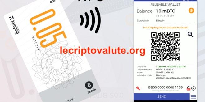 smart bitcoin banconote tangem