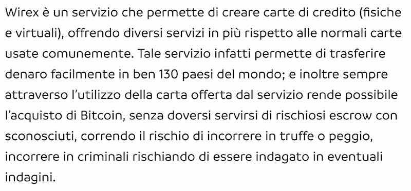 wirex italia