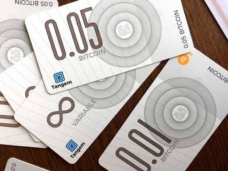 bitcoin banconote tangem
