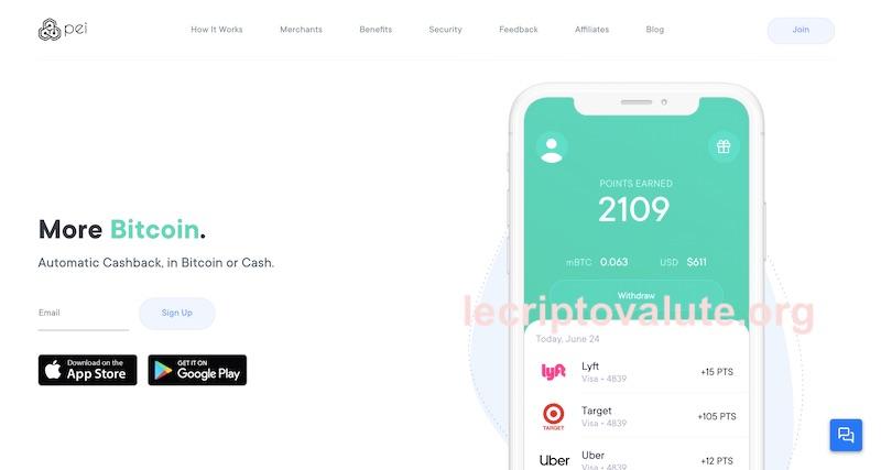 pei app recensioni opinioni come funziona guadaganre bitcoin gratis